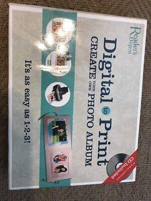 Readers Digest Digital Print Photo Album New CD Craft Kit Book NIB Digital Photo Print Kit