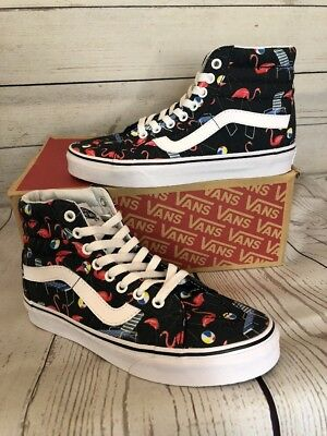Vans Sk8 Hi Reissue (pool Vibes) Black/TrWht Flamingo Mens Sz 11