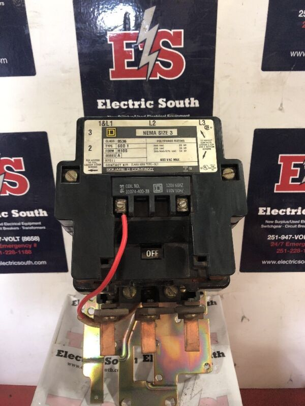 Square D Contactor Type 8536 SEO 1 H10S Series A Size 3 120 Volt Coil