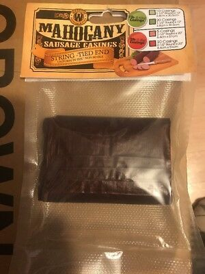 Weston Mahogany Sausage Casings - 12.5in X 20in - 5 Count