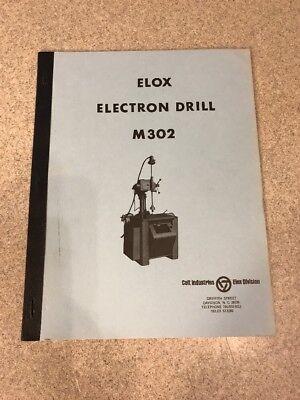 Elox Electron Drill M302 Manual