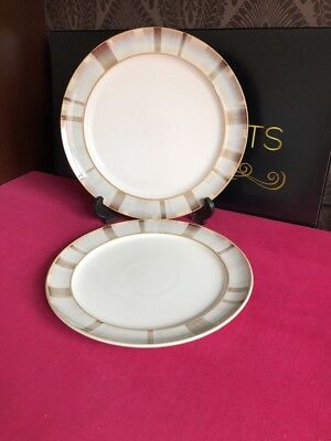 """Denby Truffle Layers Salad Plate 8"""" And Dinner Plate 11"""" Denby Truffle Layers"""