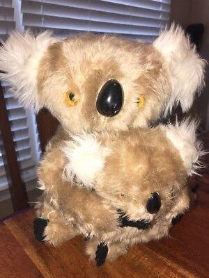 VTG Interpur Koala Bear Mom/Baby Plush Stuffed Animal Toy Set Made in Korea (JL)