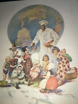 Cream Of Wheat Ad Rastus  Black Man Memorabilia 1923 Worlds Fare Globe Brewer Ar