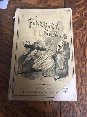 Fireside Games Winter Social Recreation Party Family Entertainment Vintage 1859