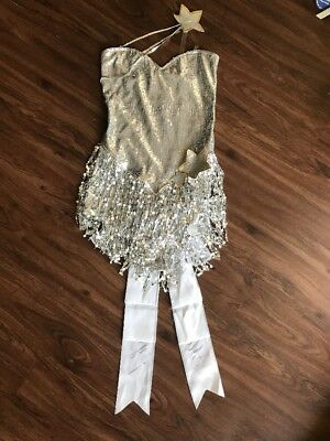Shooting Star Silver Sequined Outfit S](Silver Burlesque Costume)
