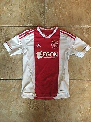 Ajax Amsterdam Aegon Adidas Jersey Youth Size M