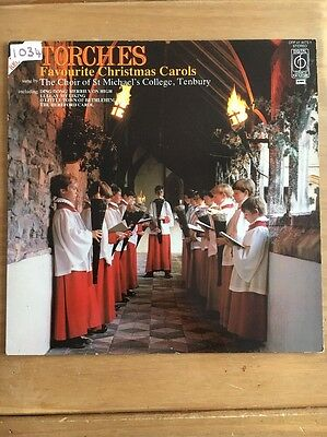 THE CHOIR OF ST MICHAEL'S COLLEGE TENBURY Torches Favourite Christmas Carols LP