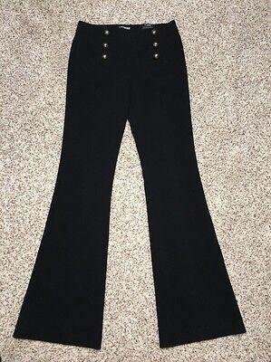 Express Pants Black Sailor Flare Size 4 Reg Inseam 34 Womens NWT Retail $79.90