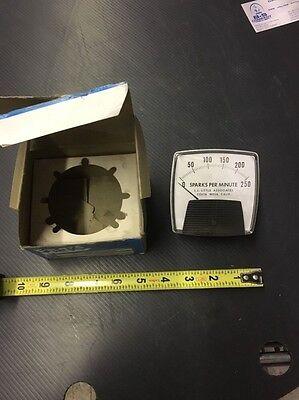 General Electric Panel Meter Sparks Per Minute 0-250 Model 50-25030fafa