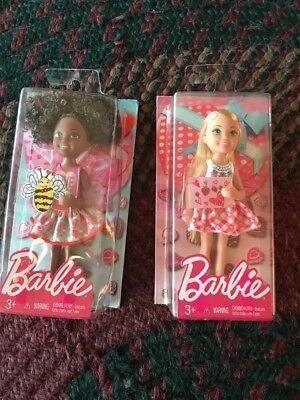 "2017 Barbie Target Valentine's Day Chelsea Blonde African-American 6"" Doll Set"