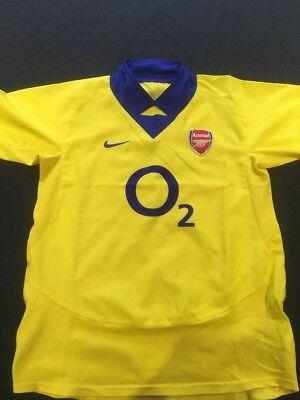 Football Shirt Sz US 14-16 - 2003 Away shirt O2 Arsenal (2233)