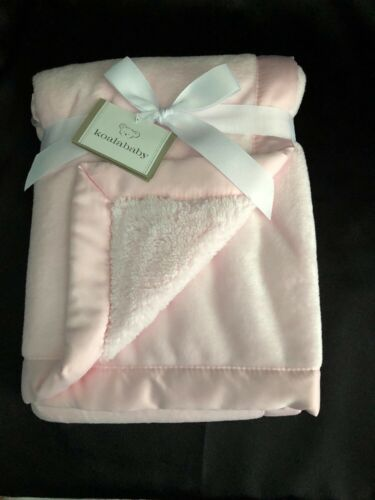 Koala Baby Pink Baby Blanket Purple Satin Trim New With Tags