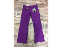 Women's Volcom Snowboard Pant Link Insulated, Purple, Size Large, New Unworn