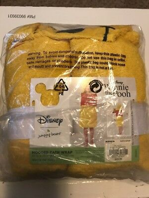 "Used, Disney Winnie the Pooh Hooded Bath Towel Wrap 25"" X 50"" by Jumping Beans for sale  Uniontown"