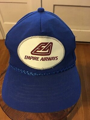 Empire Airways Hat Cap With Patch Blue Snapback Republic Airport Airline