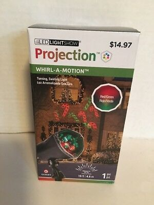 Candy Canes LED Lightshow Projection Spotlight Christmas Light Show 15 ft NEW