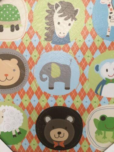 Nursery Decor Canvas Wall Decor Baby Children KidsAnimals Zoo Jungle 11x14 - $11.59