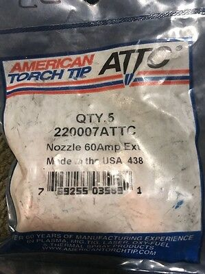 5american Torch Tip 220007 Attc Non Sheilded Nozzle 60a Powermax10001250 T60
