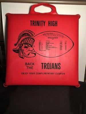 For sale 1981 Trinity High School Trojans Euless, Texas Football Advertising Seat Cushion