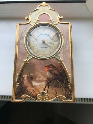 Porcelain Clock Treasures of the morning  heirloom porcelain clock