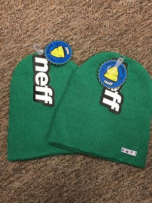 Neff Daily Beanie Bright Green  2  New With Tags Free Shipping