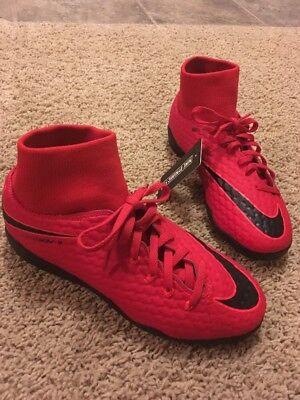 4078d7c44 Nike JR HypervenomX Phelon 3 DF IC Big Kids Indoor Soccer Shoes Sz 5.5Y Red  NEW