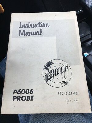 Vintage 1963 Tektronix P6006 Oscilloscope Probe Instruction Manual