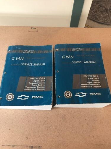 GM Dealership OEM shop service manual set 1997 Chevy  GMC G Van