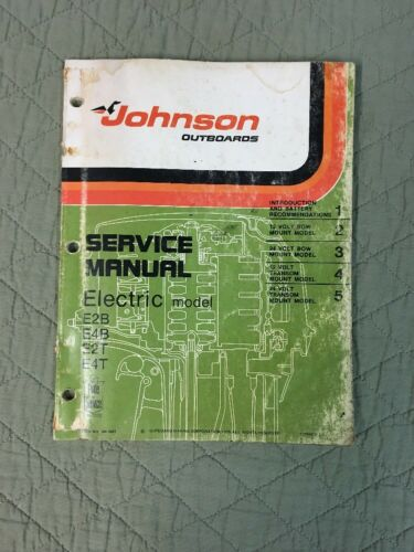 1976 OMC JOHNSON SERVICE MANUAL - ELECTRIC P/N JM-7601 OUTBOARD SHOP REPAIR
