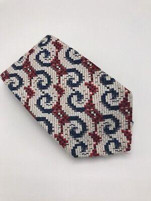 1960s – 70s Men's Ties | Skinny Ties, Slim Ties Vtg 1960s 1970s Qiana By Donegal Mens Necktie Red White Blue Nylon Swirl Pattern $15.79 AT vintagedancer.com