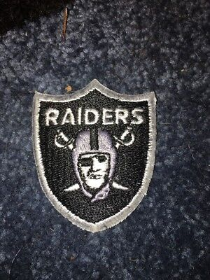 FREE SHIPPING NFL Oakland Raiders Iron On Fabric Applique Patch Logo DIY