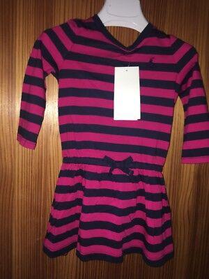 RALPH LAUREN BABY GIRLS PINK  STRIPED DRESS & PANTS AGE 12 MONTHS