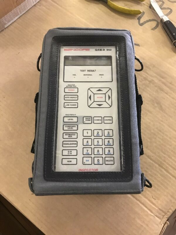 Sencore QAM-B 962 Cable Tv System Analyzer Meter With Carrying Case