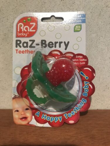 Raspberry Silicone Teether Pacifier Multi Texture Design Han