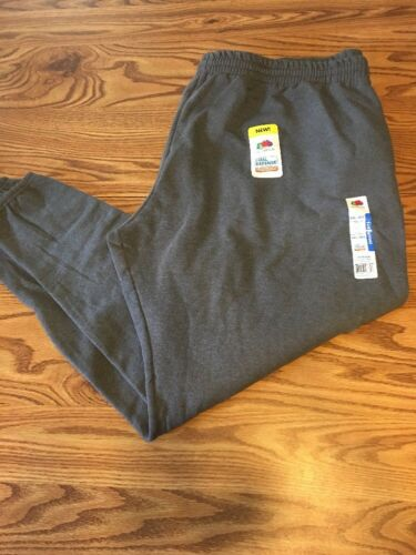 NWT MEN'S FRUIT OF THE LOOM SWEATPANTS SIZE 4XL  Charcoal Gr