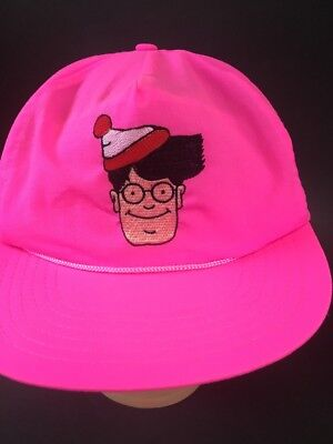 WHERE'S WALDO? NEON Pink  STITCHED SNAPBACK BASEBALL HAT CAP - Waldo Hats