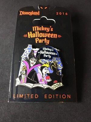 Disneyland 2016 Pin Mickey's Halloween Party Villains Maleficent Evil Queen