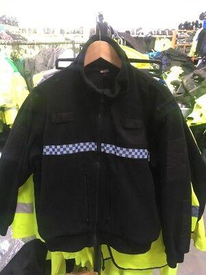 Ex Police Tornado Fleece With Chequered Reflective Strip Medium