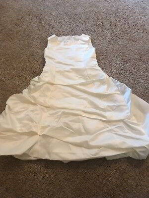 Girls White Formal Special Occasion Bubble Skirt Floorlength Dress Size - Bubble White Girls