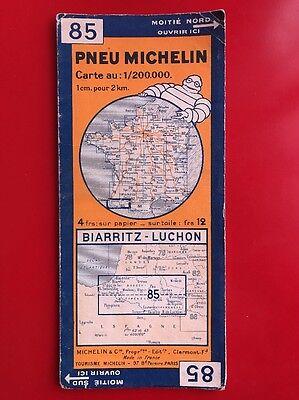 Card Michelin #85 Biarritz - Luchon 1933/Collector Bibendum Vintage