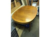 Solid Oak Extending Dining Table - 153cm Unextended - 209cm Extended
