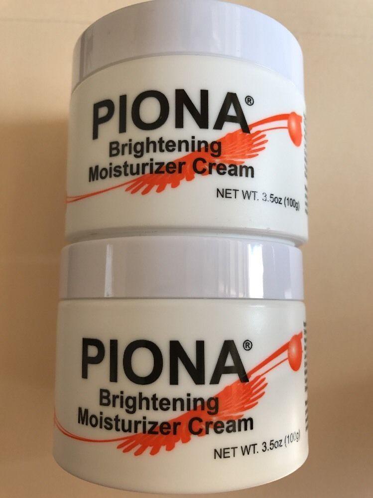 Piona Brightening Moisturizing Cream 3.5oz Pack of 2 Health & Beauty