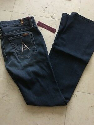 Seven 7 For All Mankind $189 A Pocket Flare Jeans 26 Authentic Rhinestone New * Seven For All Mankind Flare Jeans