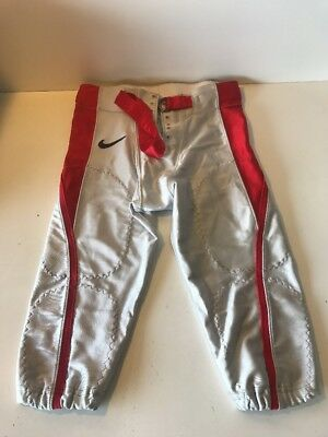 Slightly Used Football Game Pants NIKE Gray/Red Stripe Game/Practice