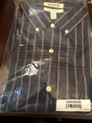 Men's Slim-Fit Long Sleeve Striped Button Down Shirt Goodthr