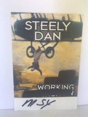 Steely Dan 2018 Concert Tour Local Crew Backstage Pass New Unpeeled