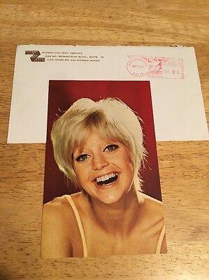 Vintage 1971 GOLDIE HAWN Studio Fan Mail Pre-Printed Autograph 3-1/2 x 5 Color
