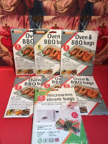 6 pks Toastabags Oven & BBQ Bags Griddle Hotplate Plus 1 Pk