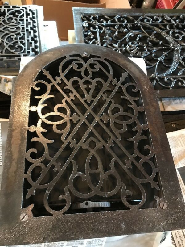 Br 28 antique decorative cast iron arch top heating Grate 10 x 14